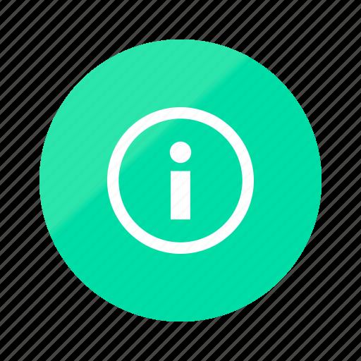 data, emerald, gradient, half, help, info, support icon