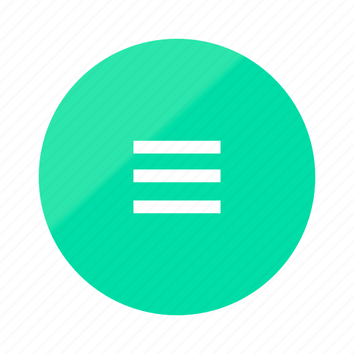 app, emerald, gradient, half, menu, mobile, ui icon
