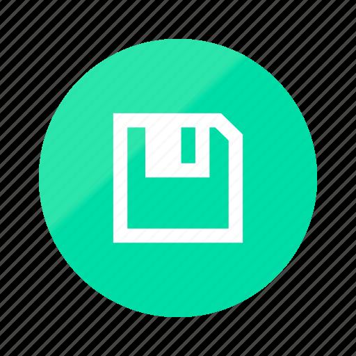 document, emerald, file, files, gradient, half, save icon