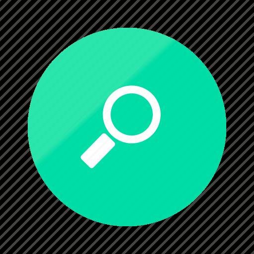emerald, engine, gradient, half, internet, magnifier, search icon