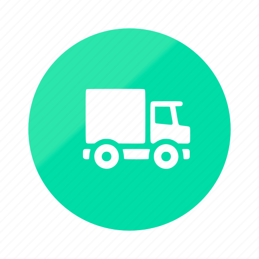 delivery, ecommerce, emerald, gradient, half, shipping, shop icon