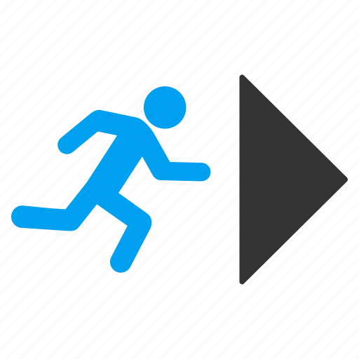 emergency, escape route, evacuation, fire exit, guide arrow, rescue direction, safety way icon
