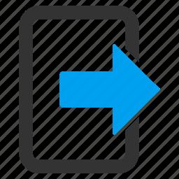 away arrow, escape route, evacuation, exit door, log out, login, logout icon
