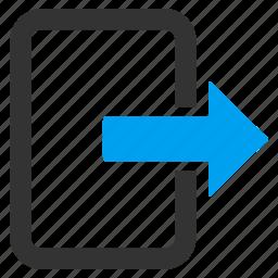 arrow, cancel, close, exit door, log out, login, logout icon