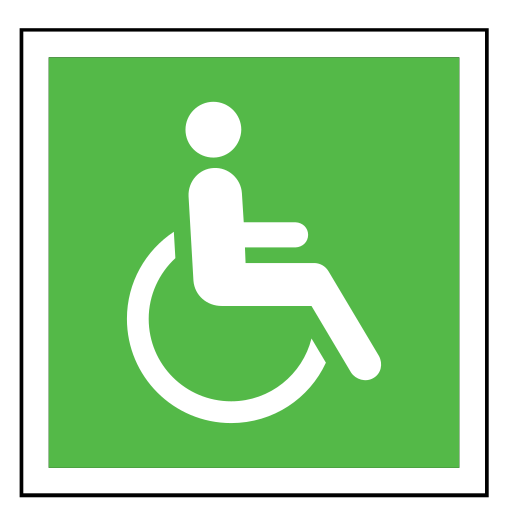 code, disabled person, emergency, sign, sos, wheelchair icon