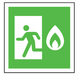 code, emergency, exit, fire, flame, sign, sos icon