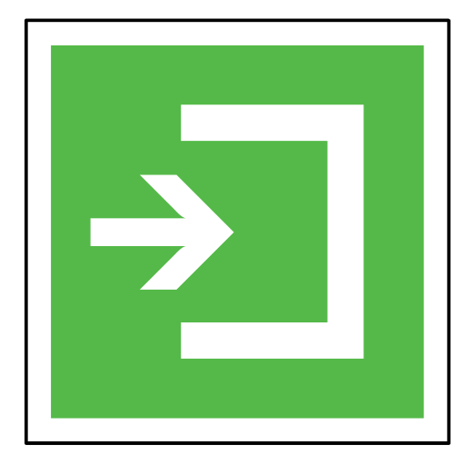 arrow, code, emergency, exit, sign, sos icon