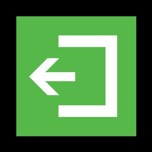 arrow, code, emergency, exit, sign, sos icon