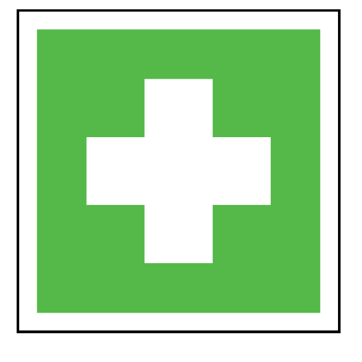 code, cross, emergency, green, sign, sos icon