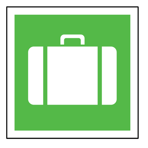bag, code, emergency, sign, sos, suitcase icon