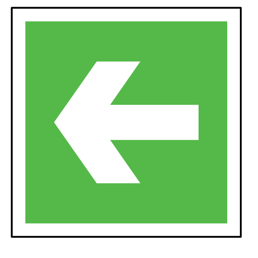arrow, code, direction, emergency, green, sign, sos icon