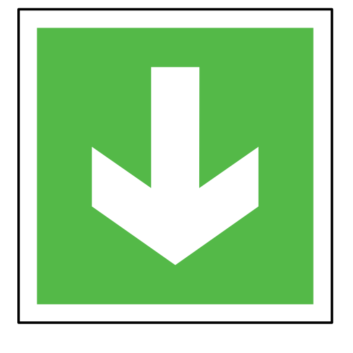 arrow, code, direction, emergency, gree, sign, sos icon