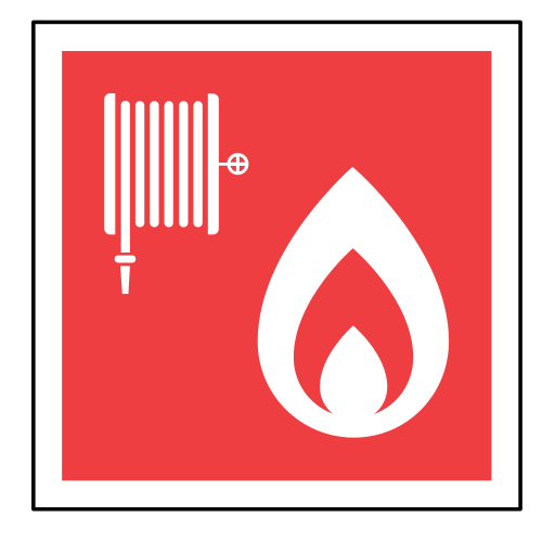 code, emergency, fire, hose, sign, sos icon