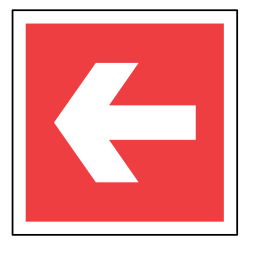 arrow, code, direction, emergency, red, sign, sos icon