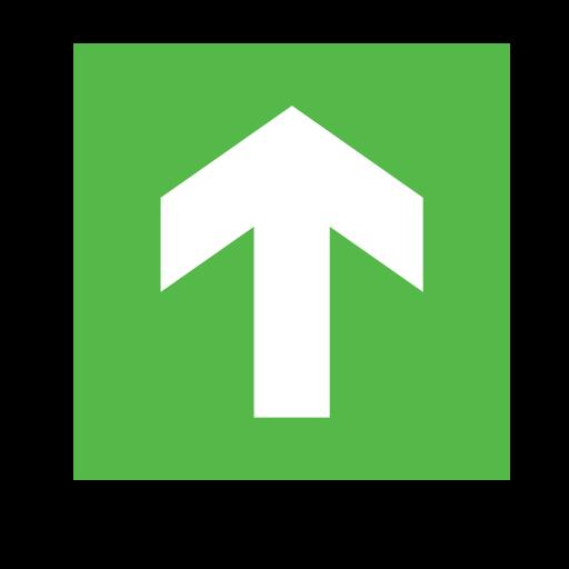 arrow, code, direction, emergency, green, sign, sos icon