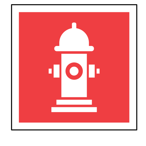 code, emergency, fire, hydrant, sign, sos, water icon