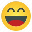 laugh, emoticon, emoji, face, emotion, smiley, expression