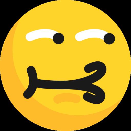 emoticon, expression, laugh, ridicule, teasing icon