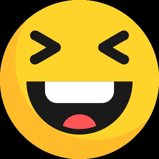 emoji, emoticon, happy, laugh icon
