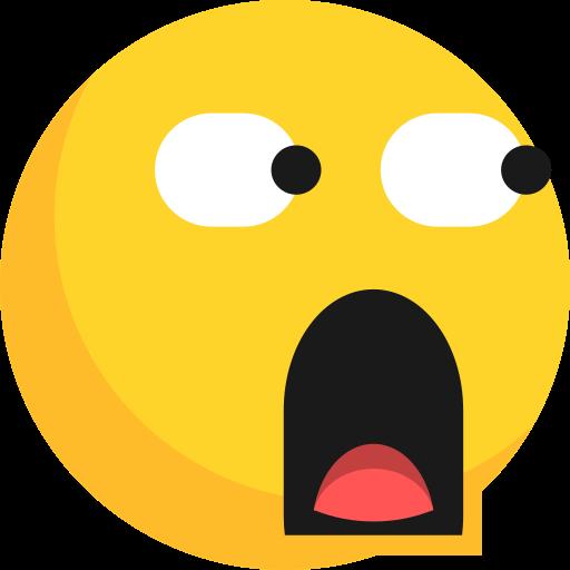 Emoji, expression, glared, shocked, surprised icon - Free download