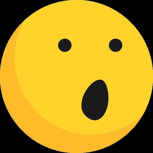 Emoji, emoticon, emotion, shocked, wonder icon - Free download