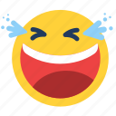 emoji, emoticon, emotion, face, feeling, laughing, lol icon