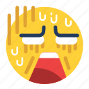 badly, emoji, emoticon, emotion, expression, feeling, terrible icon