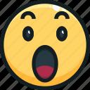 emoji, emotion, emotional, face, wow icon