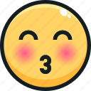 emoji, emotion, emotional, face, kiss icon
