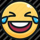 emoji, emotion, emotional, face, laughing icon