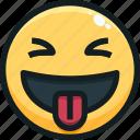 emoji, emotion, emotional, face, tongue icon