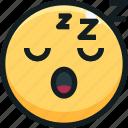 emoji, emotion, emotional, face, sleep icon