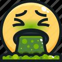 emoji, emotion, emotional, face, puke icon