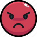 angry, emoji, emotion, emotional, face icon