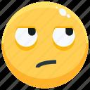 emoji, emotion, emotional, face, feeling, sarcastic icon