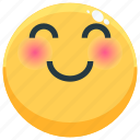 emoji, emotion, emotional, face, feeling, shy icon