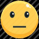 emotion, face, emoji, feeling, emotional, neutral icon