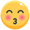 emoji, emotion, emotional, face, feeling, kiss icon