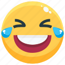 emoji, emotion, emotional, face, feeling, laughing icon