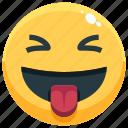 emoji, emotion, emotional, face, feeling, tongue icon