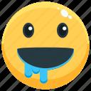 emoji, emotion, emotional, face, feeling, hungry icon