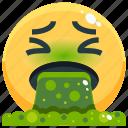 emoji, emotion, emotional, face, feeling, puke icon