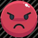 angry, emoji, emotion, emotional, face, feeling