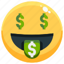 emoji, emotion, emotional, face, feeling, money icon
