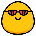 cool, emoji, feeling, sunglass