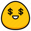 cool, emoji, greed, money
