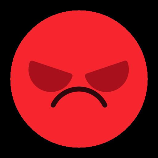 angry, emoji, emotion, face, feeling icon