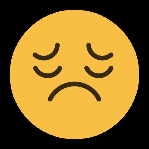 emoji, emotion, face, feeling, sad icon