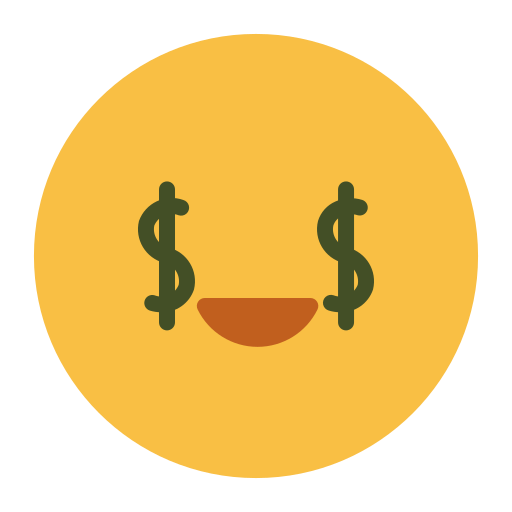 emoji, emotion, face, feeling, rich icon