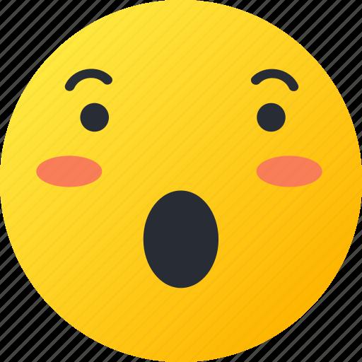astonished, avatar, emoji, emoticons, emotion, face, smiley icon